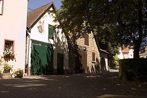 Guntersblum - Wine press houses on the Kellerweg