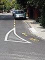 Kerékpársáv, Kiss Áron utca, 2018 Virányos.jpg