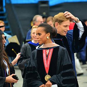 Kerry Washington - Washington at George Washington University, where she addressed the graduates in 2013