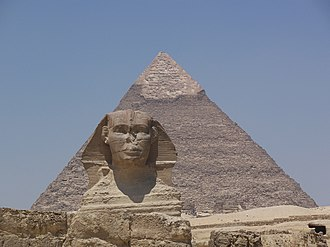 Khafra - Khafre's Pyramid and the Great Sphinx.