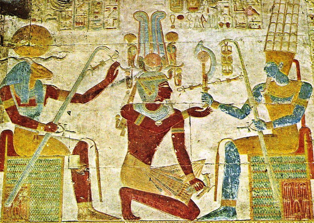 File Khnum Setos I Amun Jpg Wikimedia Commons