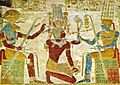 Khnum, Setos I., Amun.jpg