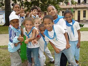 Kids in public park, Centro Habana, Havana, Cu...