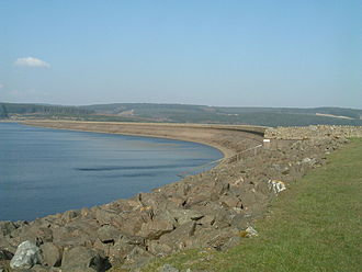 Kielder Water - Kielder Dam in 2007