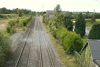 Track gauge in Ireland - Irish gauge railway at Kilbricken on the Dublin-Cork railway line