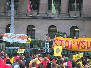 King George Square anti-VSU rally