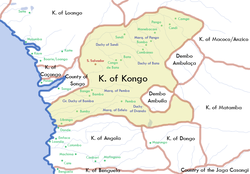 "The ""Kingdom of Congo"" (now usually rendered as ""Kingdom of Kongo"" to maintain distinction from the present-day Congo nations)"