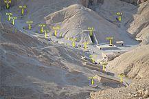A keleti völgy középső részének sírjai(Luxor, Egyiptom)