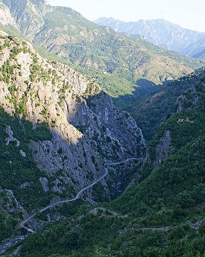 Kir (river) - Kir Gorge at Plan