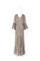 Klänning med jacka och underkjol i mauvefärgat siden och silkesspets - Hallwylska museet - 89319.tif