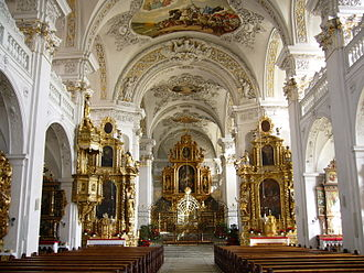 Disentis Abbey - The abbey church