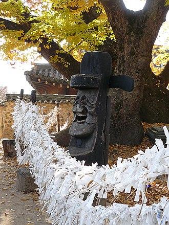 Jangseung - Image: Korea Andong Hahoe Folk Village 21