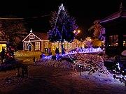 秋田県小坂町のクリスマスマーケットの様子