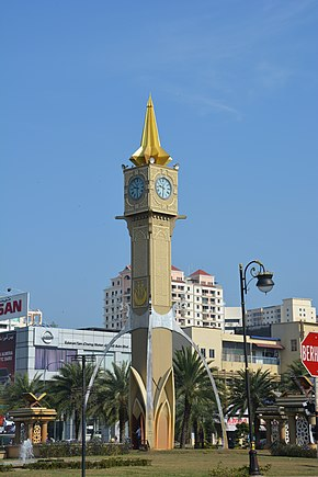 Tuan Padang roundabout clock tower at Kota Bharu.