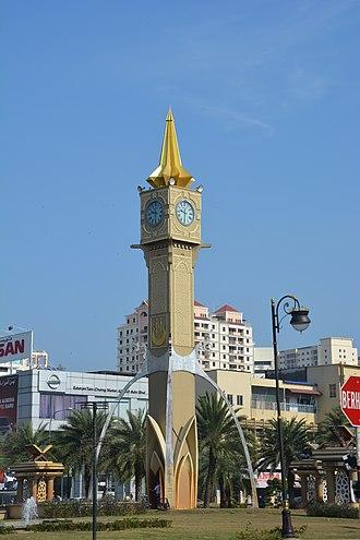Kota Bharu - Tuan Padang roundabout clock tower at Kota Bharu.