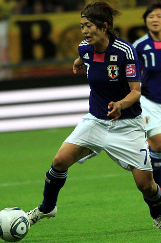 Kozue Ando - Kozue Ando playing for Japan in the 2011 FIFA Women's World Cup