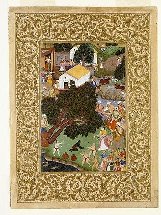 Nalakuvara - Krishna uprooted tree