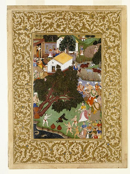 Krishna uprooted tree