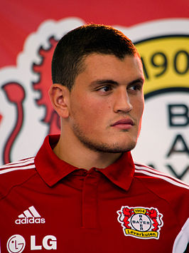 Papadopoulos in 2014 bij Bayer 04 Leverkusen