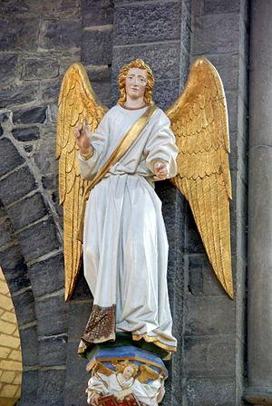 Jean Delemer - Angel Gabriel installed in the Church of Saint Quentin in Tournai