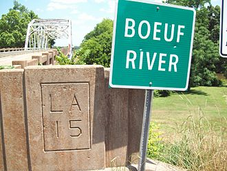 Richland Parish, Louisiana - Bridge crossing the Boeuf River on Hwy 15 near Alto, LA