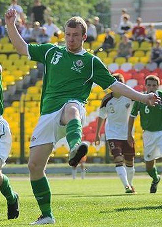Liam Boyce - Liam Boyce in action for the Northern Ireland national U19 team in 2014