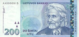 Lithuanian litas former currency of Lithuania