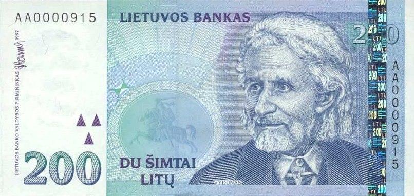 LTU 200 Litu 1997 obv