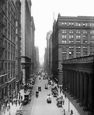 LaSalle Street - from the old Chicago Board of Trade Building (May 15, 1916)