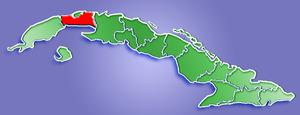 La Habana Province - Image: La Habana Province Location