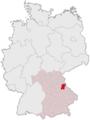 Lage des Landkreises Schwandorf in Deutschland.png