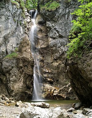 Kochel - The Lainbach waterfall near Kochel is a popular destination for excursions.