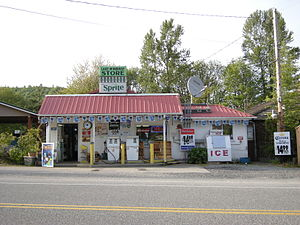 Washington State Route 9 - The Lake McMurray Store, established in 1889, located on SR 9 in Lake McMurray, a community located in southern Skagit County.