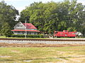 Lake Railroad Depot and Caboose.JPG