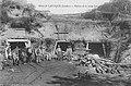 Laluque, Reseau des Mines de Lignite - La voie Decauville était posée sur le chemin passant devant la mine.jpg