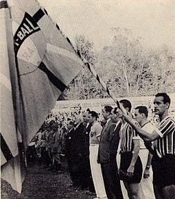 Lançamento da 3ª bandeira do Grêmio FBPA em 1944. daca3fd1a2cb3