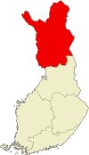 Location of Lapplands län