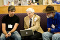 Larry Page, Martin Rees, and Simon Quellen Field-9Aug2008.jpg