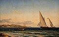 Larsen Aften ved Middelhavet. I baggrunden Marseille og øen 1854.jpg