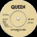 Las Palabras de Amor by Queen UK vinyl.png
