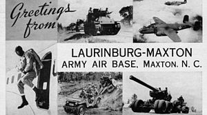 Laurinburg–Maxton Army Air Base - 1943 postcard from Laurinburg–Maxton Army Air Base