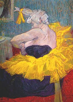 Lautrec the clownesse cha-u-kao at the moulin rouge ii 1895