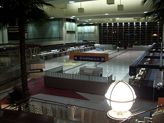 Terminals of Los Angeles International Airport - Tom Bradley International Terminal in the early morning