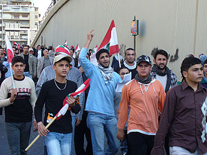 2006–08 Lebanese protests - Lebanese opposition demonstration on December 1, 2006