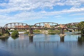 Lehigh and Hudson River Railway - Bridge over the Delaware River between Easton and Phillipsburg