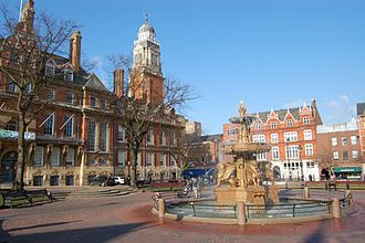 Leicester City Centre - The town hall.