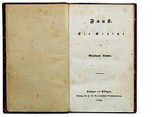 Erstausgabe von Faust. Ein Gedicht (Quelle: Wikimedia)