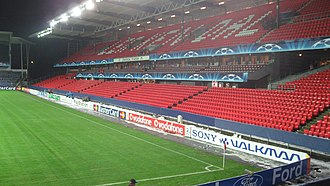 Lerkendal Stadion - The Hent Stand was built in 1996 and is the oldest remaining part of the stadium.