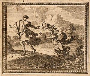 Kaunos (mythology) - Image: Les Métamorphoses d'Ovide Byblis poursuivant de son amour son frère Caunus