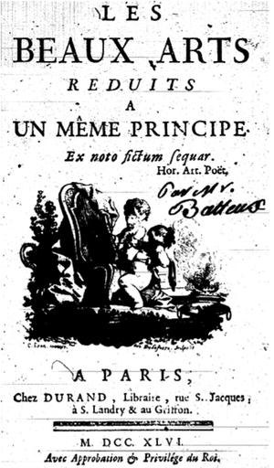 Charles Batteux - Title page of Les Beaux-Arts réduits à un même principe